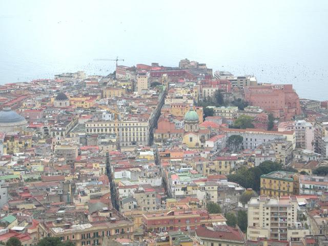 widok na Neapol, panorama miasta
