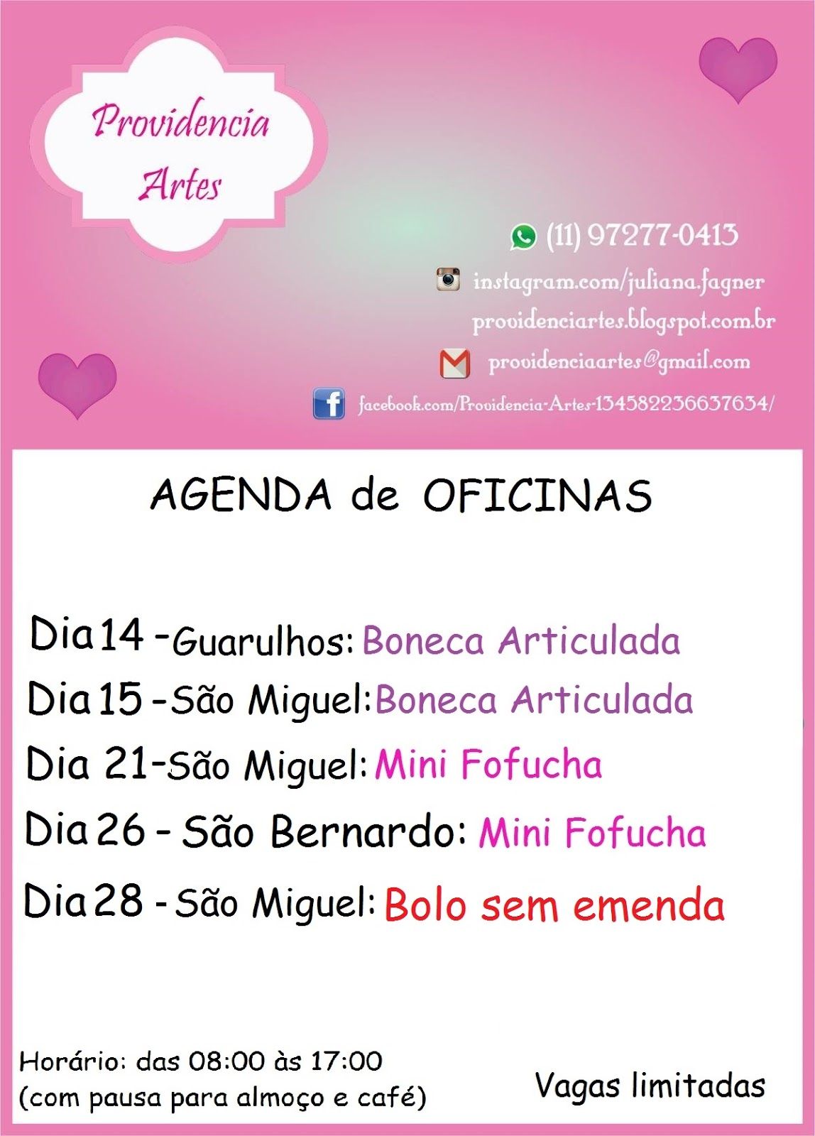 Providencia artes agenda de oficinas do m s de maio for Agendas de oficina