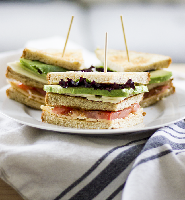 Vegetarian Club Sandwiches