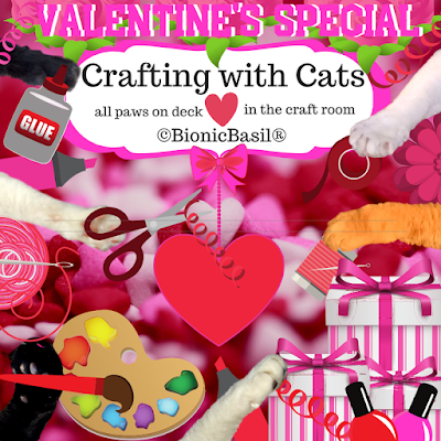 Crafting with Cats Valentine's Special Banner ©BionicBasil®