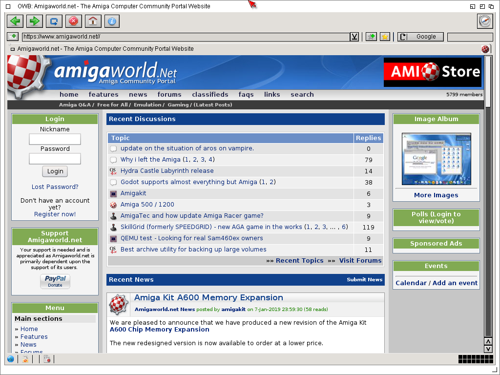 David's Computer Blog: AmigaOS Aros clone on Icaros Desktop