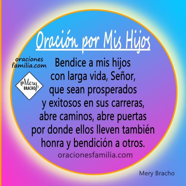 Imagen con oración por mis hijos a Dios para que los bendiga