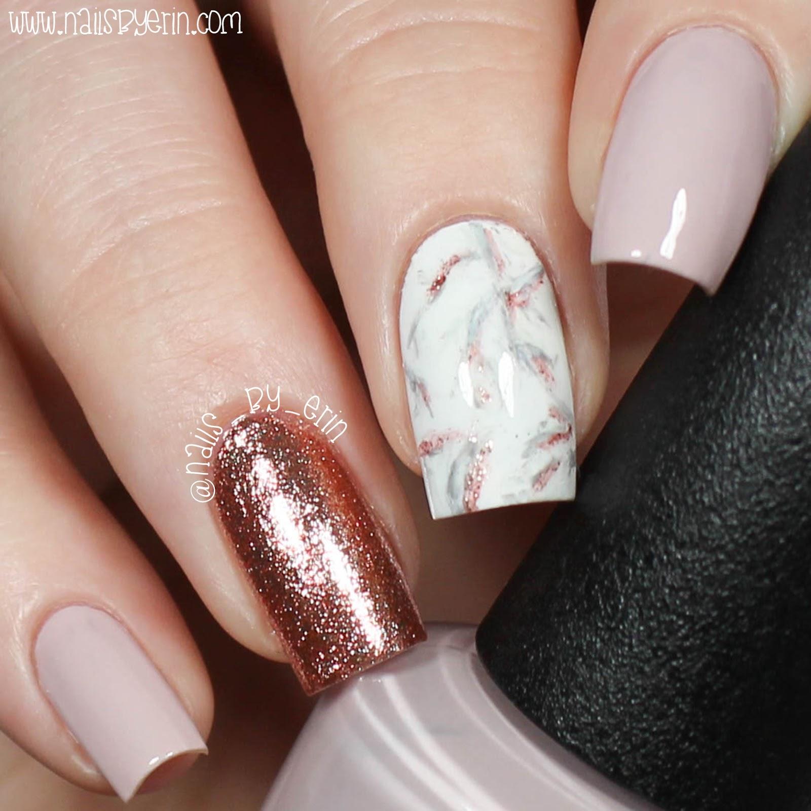 NailsByErin: Rose Gold Marble Nails