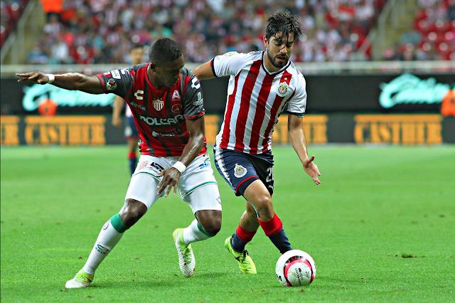 Chivas igualó 2-2 con Rayos del Necaxa
