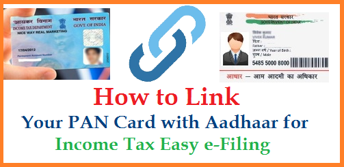 Govt of India Ministry of Finance Department of Revenue, Central Board of Direct Taxes has released a Press note on Linking PAN-Perminent Account Number with Aadhaar for Income Tax e-filing Easy. Income Tax Department simplifies linking PAN with Aadhaar The Income Tax Department has made it easy for taxpayers to link their PAN with Aadhaar. Responding to grievances of taxpayers regarding difficulties in linking PAN with Aadhaar their names did not match in both systems (Eg. Names with initials in one and expanded initials in another). the Department has come out with a simple solution now. how-to-link-pan-card-with-aadhaar-uid-income-tax-efiling