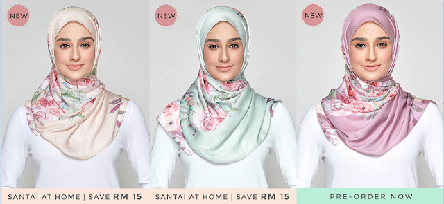 Dari kiri Blooming Rose in Nude, Blooming Rose in Pistachio dan Blooming Rose in Mauve