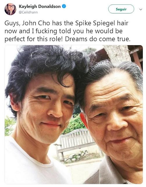 Así es el cabello de John Cho caracterizado como Spike Spiegel, para la live action de Cowboy Bebop