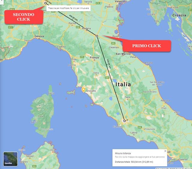 calcolo distanze con google maps
