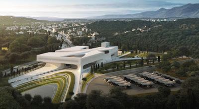 """Η πρόταση των Zaha-Hadid Architects στο διαγωνισμό για το """"Νέο Αρχαιολογικό Μουσείο Σπάρτης"""""""