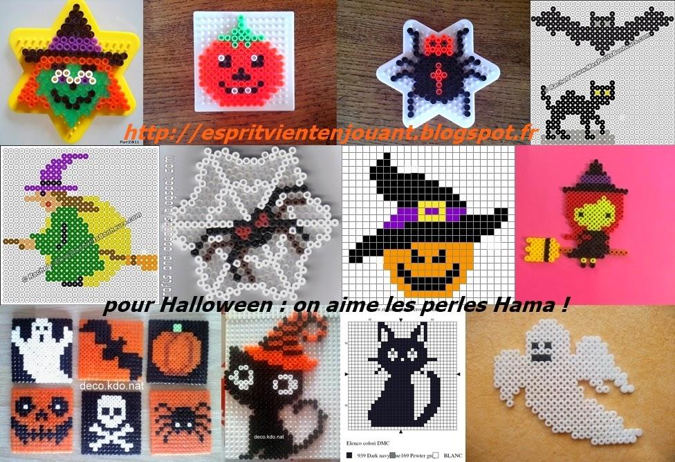 Lesprit Vient En Jouant Les Perles Hama Et Halloween