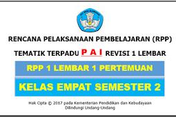 RPP 1 Lembar PAI Kelas 4 SD/MI Kurikulum 2013