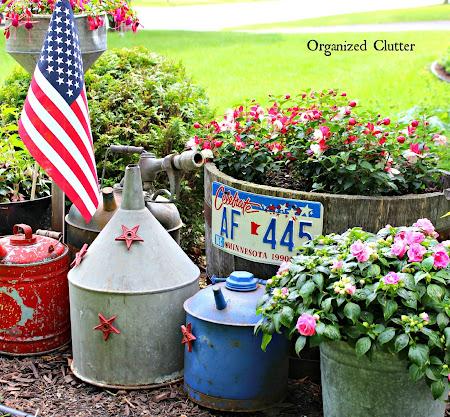 Patriotic Garden Junk