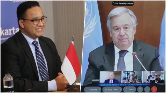 Hanya 2 Menit, Anies Berhasil Pengaruhi Sekjen PBB untuk Setujui Usulan Upaya Kurangi Emisi Karbon