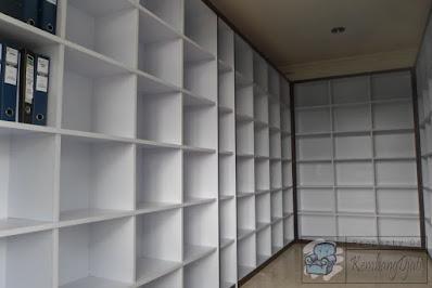 Rak Arsip Kantor Bahan Multiplek HPL + Furniture Semarang ( Rak File Semarang )