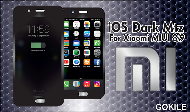 Download Tema iOS Dark Mtz Terbaru For Xiaomi MIUI 8/9,Tema Xiaomi iOS Dark Mtz,iOS Dark Theme Mtz,tema terbaru Xiaomi