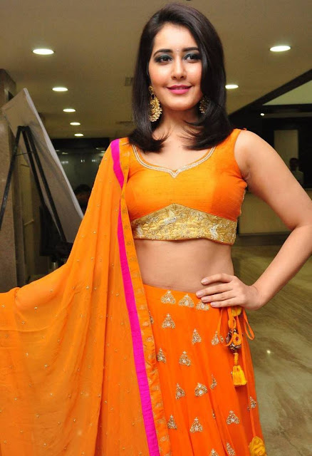 Actress Rashi Khanna Photos in Orange Dress 8 - Rashi Khanna Hottest Navel Images-Sexiest Photo Gallery HD Pictures All in One Collection