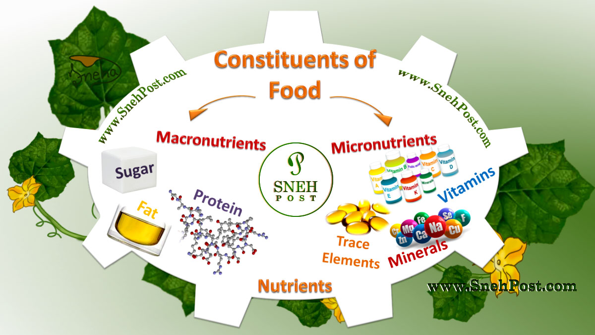 Types of Nutrients: Constituents of food: Nutrition supplements for nutrients like vitamin