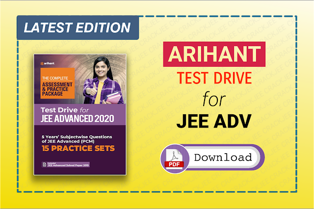 Arihant Test Drive 2021 for JEE Advanced Free Ebook View and Download Link
