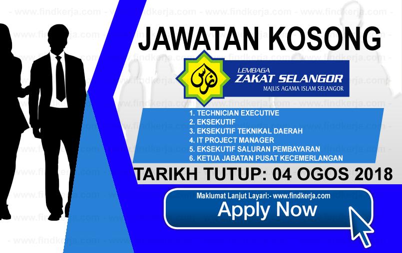 Jawatan Kerja Kosong MAIS - Lembaga Zakat Selangor logo www.ohjob.info www.findkerja.com ogos 2018