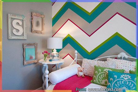 غرفة رمادية بألوان مختلفة