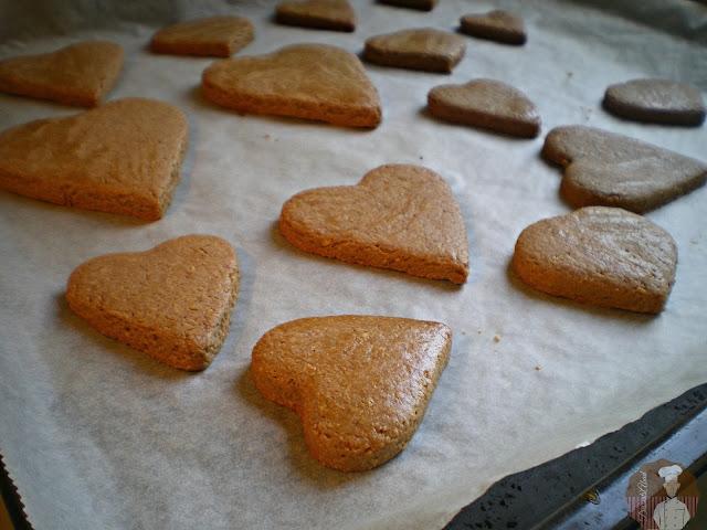 Pastas surtidas con  harina de avena y nocilla : Pastas horneadas