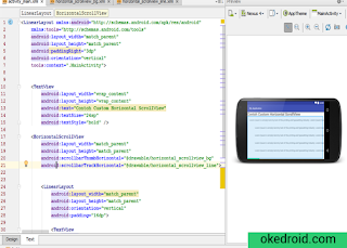 Preview Custom ScrollView Horizontal di Android Studio