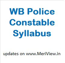 West Bangal Police Constable Syllabus