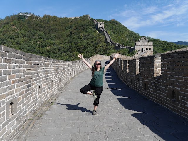 Tree Pose on the Great Wall of China