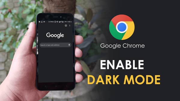 How to enable Dark theme on Google Chrome in Smartphone, android chrome ui dark mode
