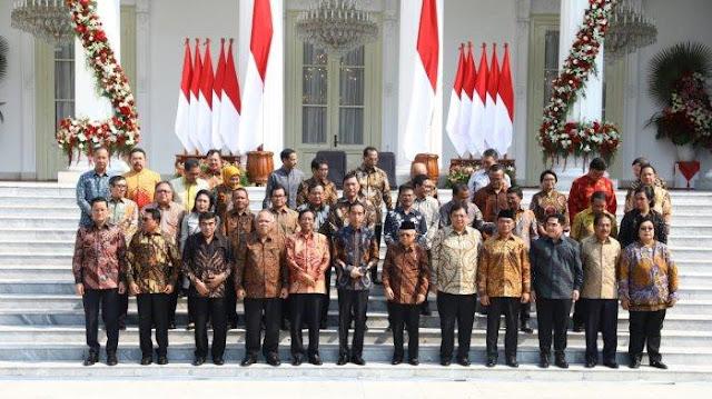 Ini Loh Susunan Kabinet Indonesia Maju dan 7 Pesan Presiden Untuk Para Menteri