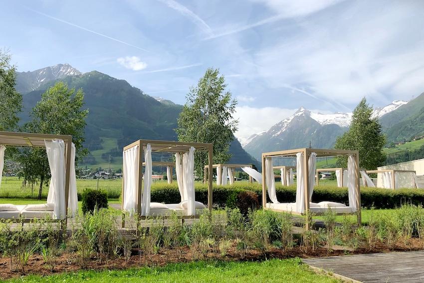 Relaxen mit Blick auf das Kitzsteinhorn