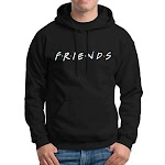 Hoodie Friends Text or Custom - Hitam