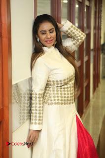 Telugu Actress Sri Reddy Mallidi Stills in White Beautiful Dress at Marriage Needs Bridal Fashion Week 2017 Logo Launch  0027.JPG