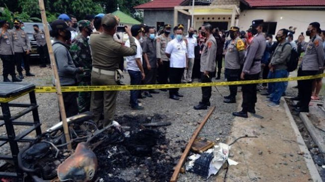 Usai Kantor Polisi Dibakar Warga, Kapolsek Candipuro Dimutasi