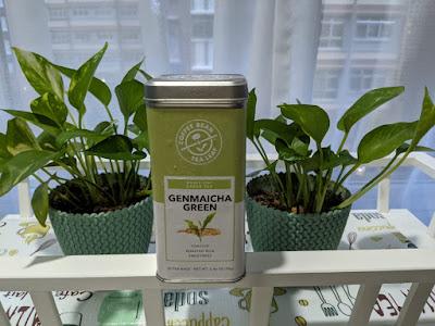 coffee bean and tea leave Genmaicha Tea