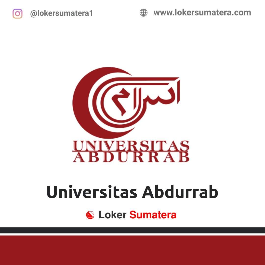 Lowongan Kerja Pekanbaru: Universitas Abdurrab Januari 2021