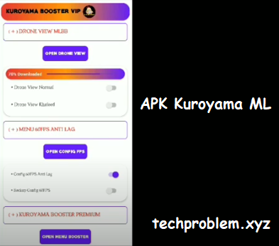 APK Kuroyama Booster VIP Mobile Legends