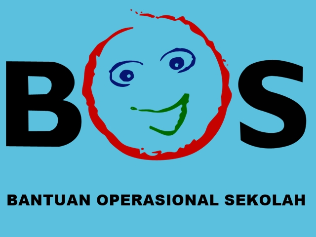 Logo BOS Background Biru Tulisan Hitam
