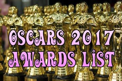 OSCAR AWARDS 2017 List