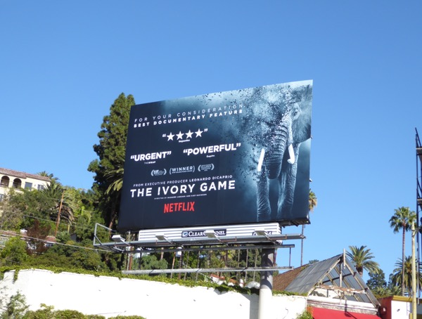 Ivory Game consideration billboard