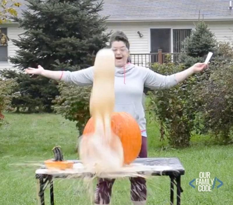 pumpkin geyser