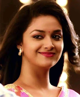 Keerthy Suresh in Pink Dress with Cute and Awesome Lovely Chubby Cheeks Smile