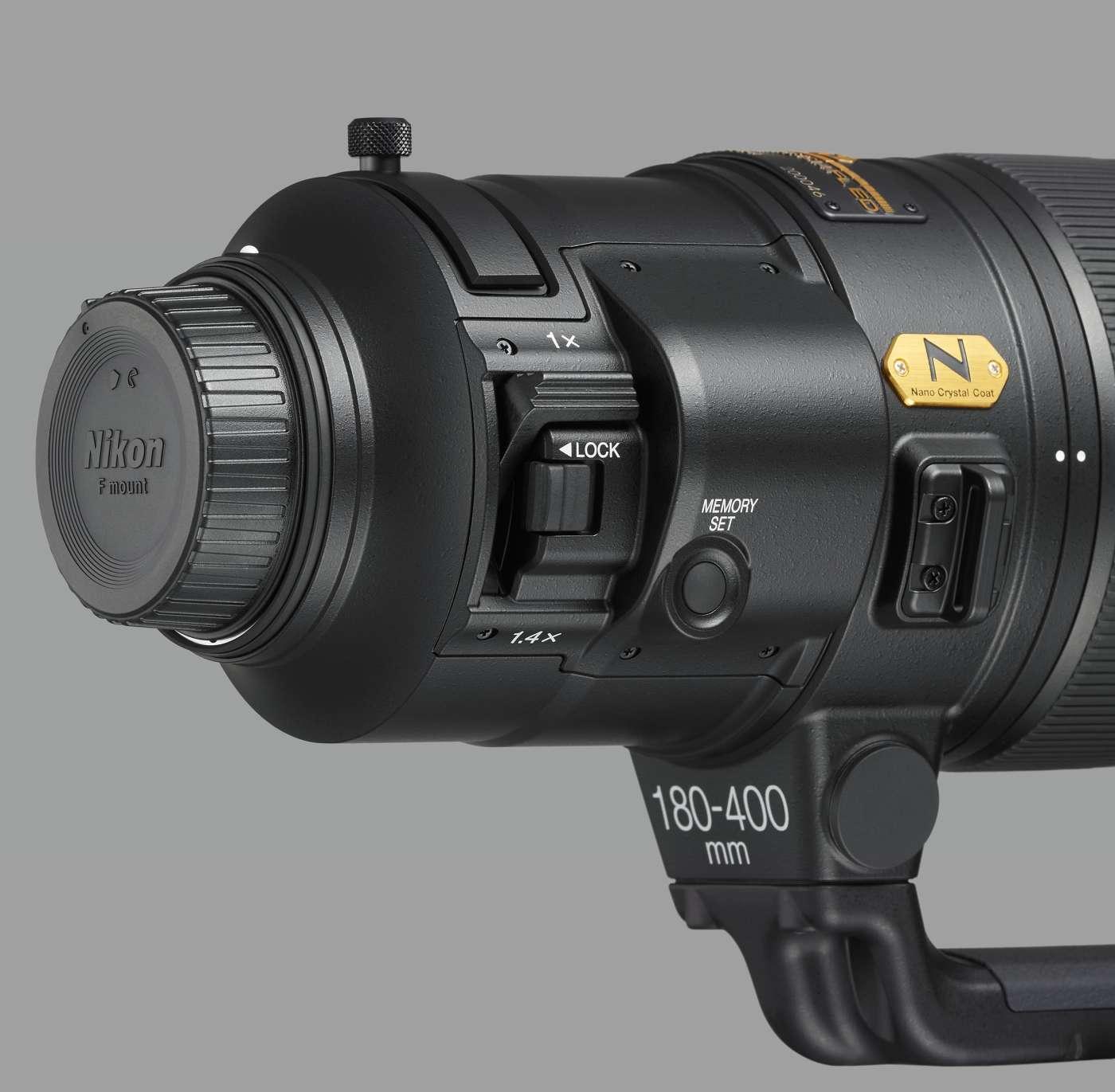 Управление подключением 1.4-кратного телеконветора объективе Nikon 180-400mm f/4