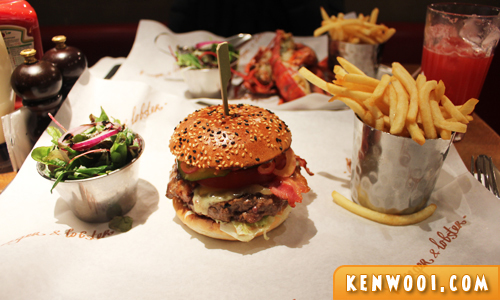 burger and lobster burger
