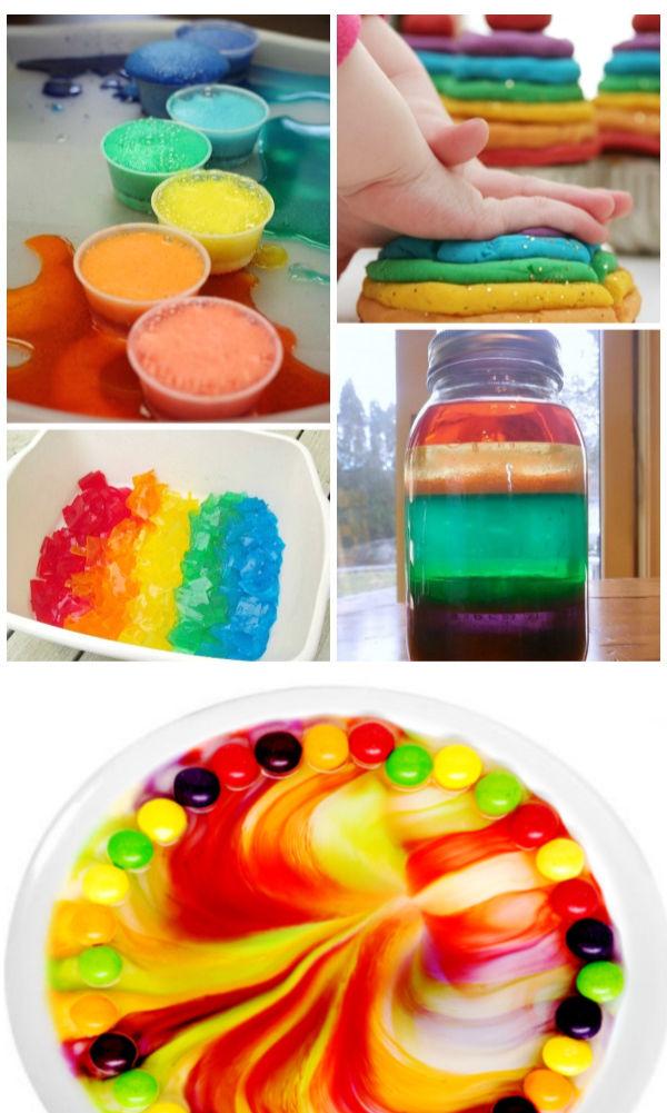 25+ fun & creative ways for kids to make a rainbow.  Crafts, science experiments, recipes, and more! #rainbowartforkids #rainbowactivitiespreschool #rainbowcrafts #rainbowexperimentsforkids #growingajeweledrose #activitiesforkids