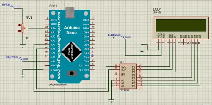 ADC pada Arduino Nano menggunakan Proteus