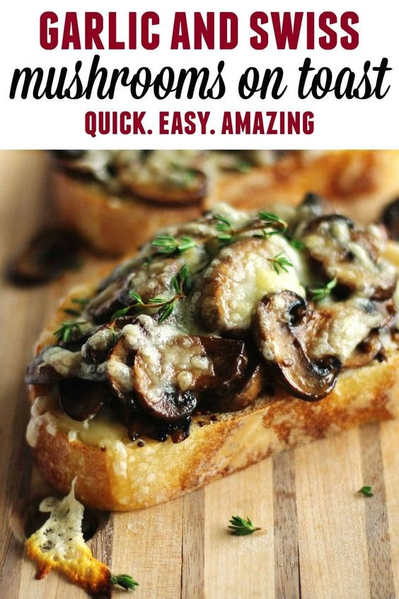 Cheesy Mushroom Toast With Maille Old Style Mustard And Thyme Recipe
