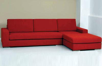 sofa tamu merah terbaru