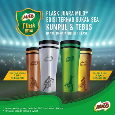 Flask Juara MILO Percuma Edisi Terhad Sukan SEA
