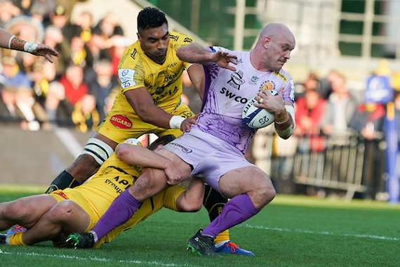Victor VITO of La Rochelle and Jack YEANDLE of Exeter during the European Rugby Champions Cup